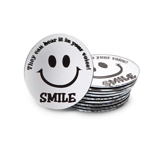 Round Smile Mirrors, set of 10