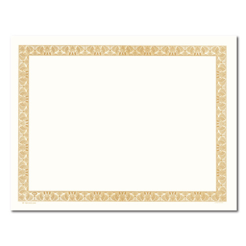 Certificate Paper - Slim Border w/Cream Center GOLD