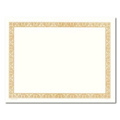 Certificate Paper - Slim Border w/Cream Center GOLD