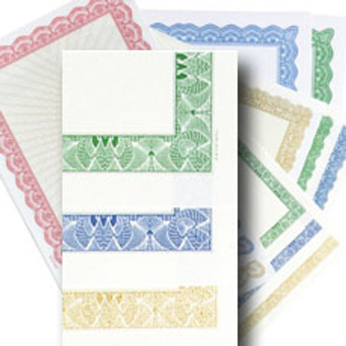 Certificate Paper - 8.5 x 11 Slim Border w/Cream Center 24# bond
