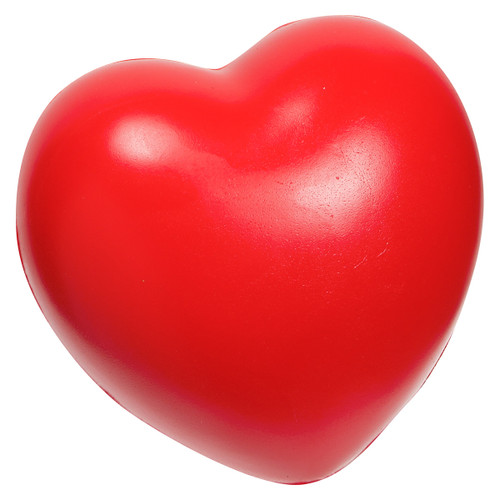 Red heart stress reliever toy