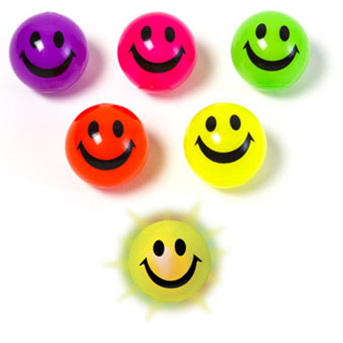 Light-Up Smile Ball, assorted colors