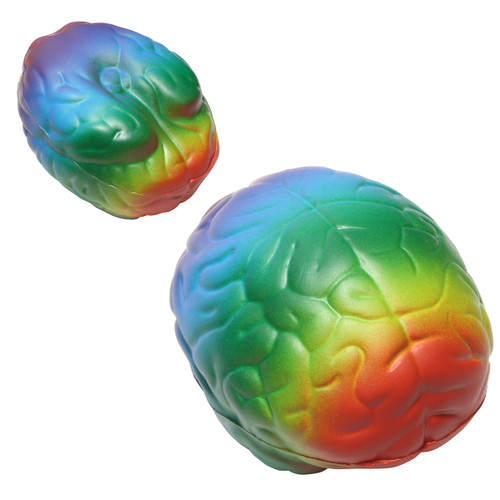 Brain Stress Ball - top and bottom view