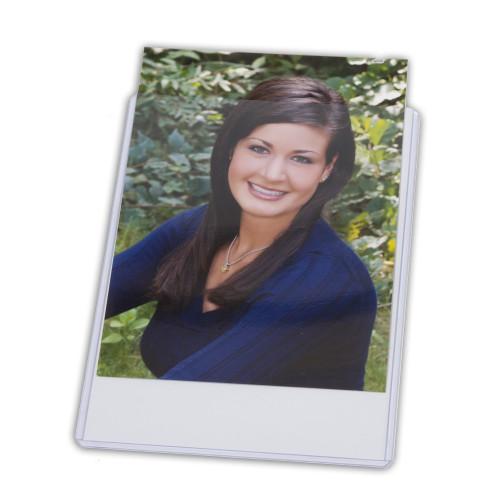 3.5x5 plastic DocU-Sleeve with photo sliding in