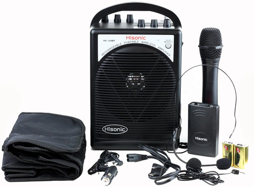 Hisonic Portable Wireless PA System, with all the accessories