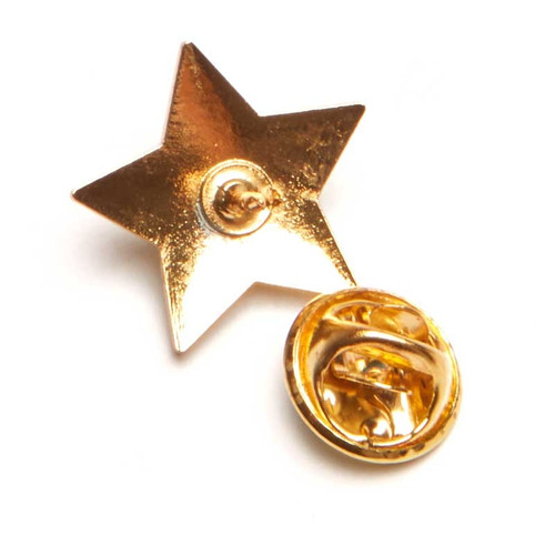 Silver Star Lapel Pin; back