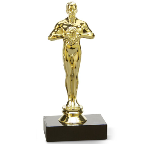 Oscar's Cousin Trophy; small trophy on black base