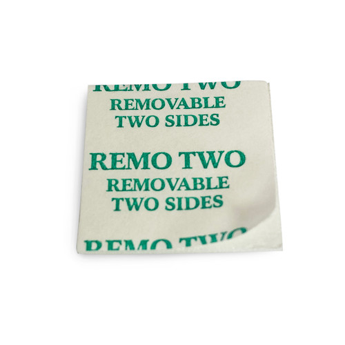OMNI-Tab 2-sided Removable Adhesive Square; one peel-off tab