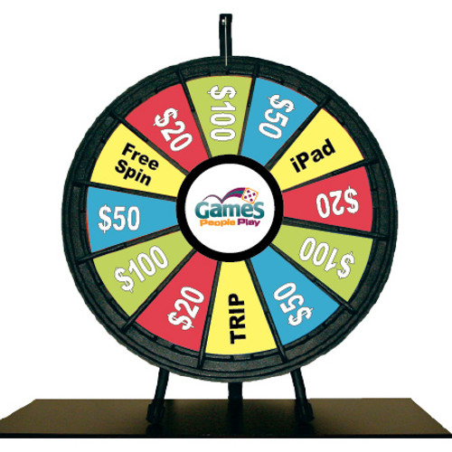 "26"" Tabletop Prize Wheel (12 pockets)"
