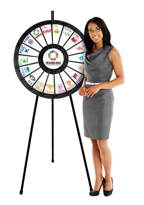 Prize Wheel (18-Pocket) Tabletop/Floor model; in use