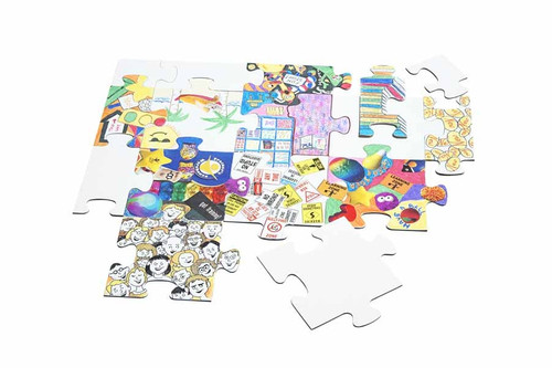 Community Puzzle; example of colored pieces