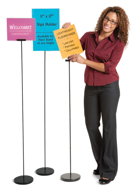 """4 ft. Floor Stand for 8.5"""" x 11"""" signs"""