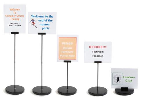 Convertible Desktop Sign Holder - set at 5 heights