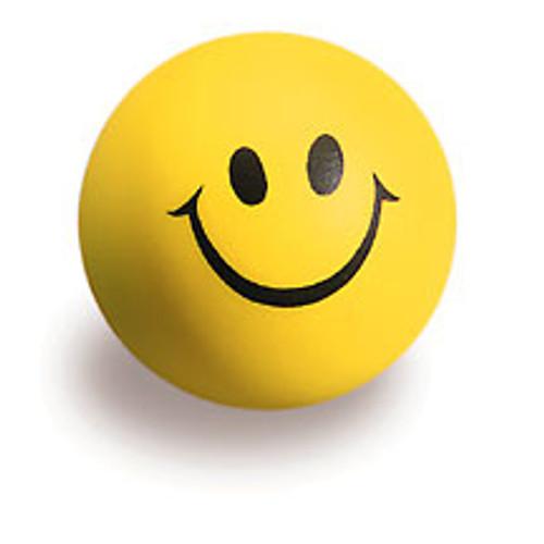 Yellow Smiley Face stress ball