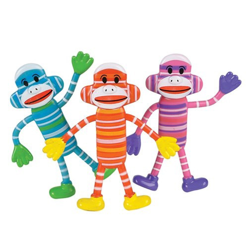 Colorful Bendable Sock Monkey