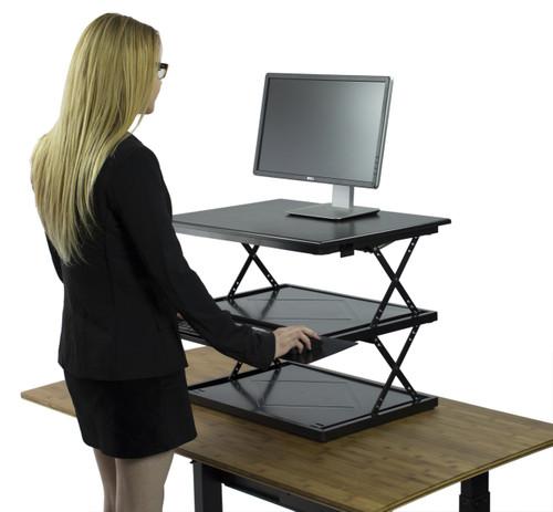 CHANGEdesk,  woman raising desk