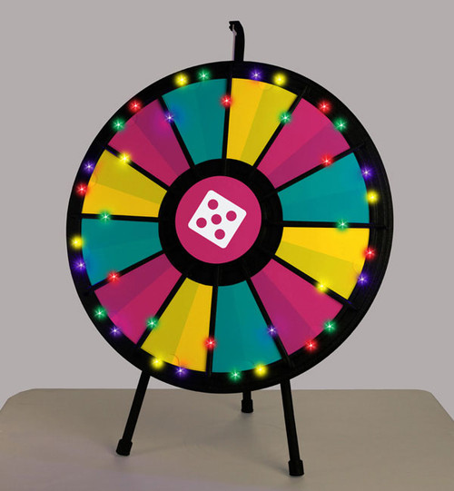 LIGHT-UP 12- to 24-Slot Tabletop Prize Wheel; tabletop