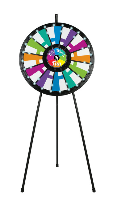 LIGHT-UP Prize Wheel with 12- to 24-Slots; customized