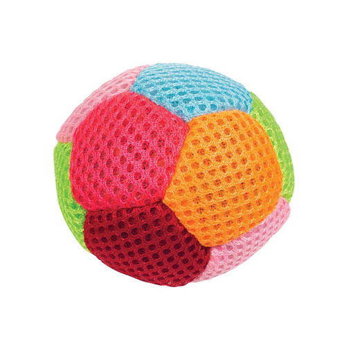 Bean Bag Ball, with multiple colored pentagons stitched together