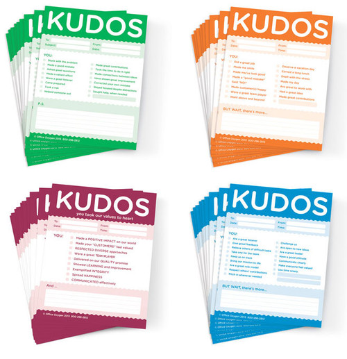 Kudos Notes; Assortment of 4 pads