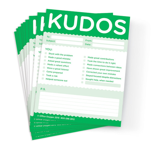 Kudos Notes; 10 pad for growth and learning