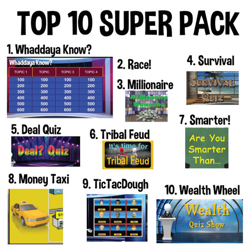 Top 10 TV Game Show Super Pack, single-user license