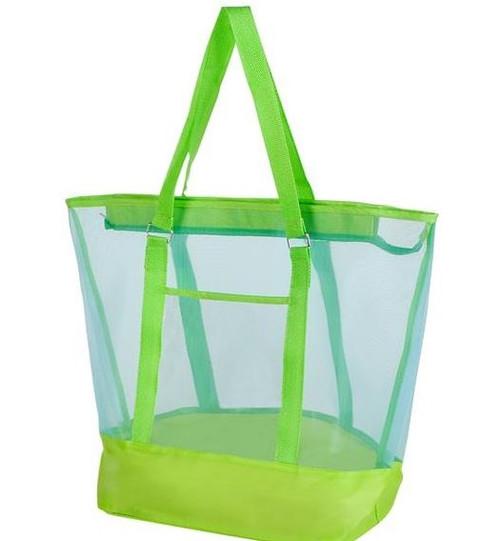 Large Mesh Bag; lime green