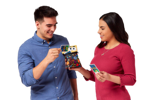 Man and woman using UNZiP-it! with Stress Management Card Deck
