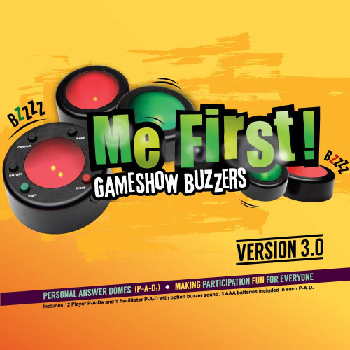 Me First 12-player Wireless Game Buzzers