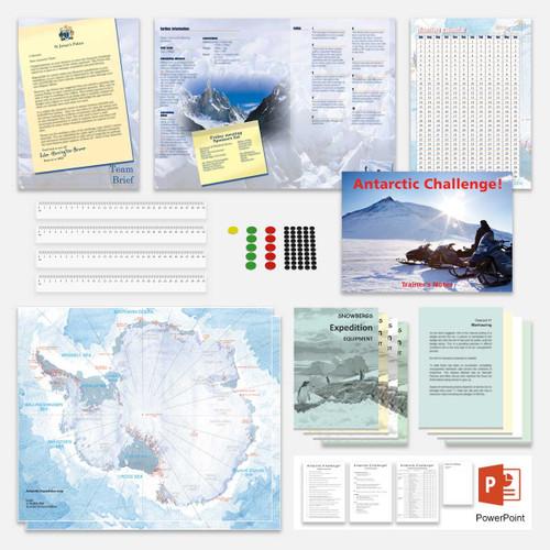 Antarctic Challenge; game parts