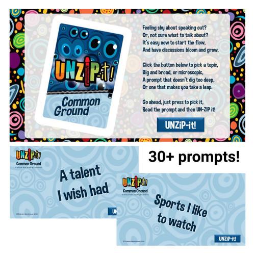 UNZiP-it! Remote w/ Common Ground Prompts