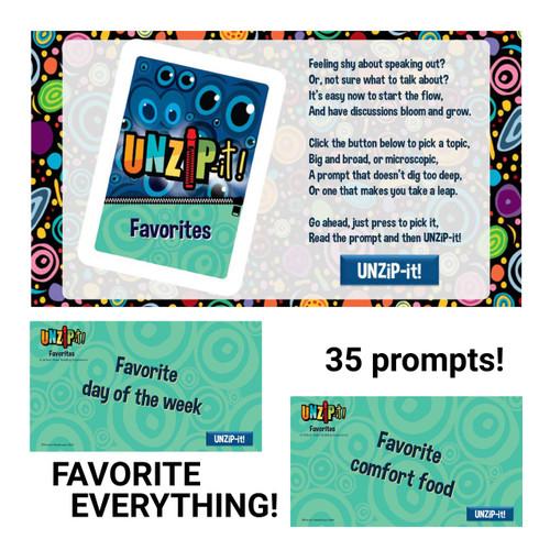 UNZiP-it! Remote w/ Favorites Prompts