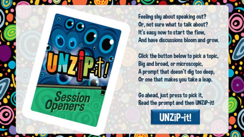 UNZiP-it! Remote w/ Session Openers Prompts - splash screen
