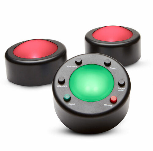 Me First v.3 wireless Game Buzzers - Small Group 2-user Set + facilitator