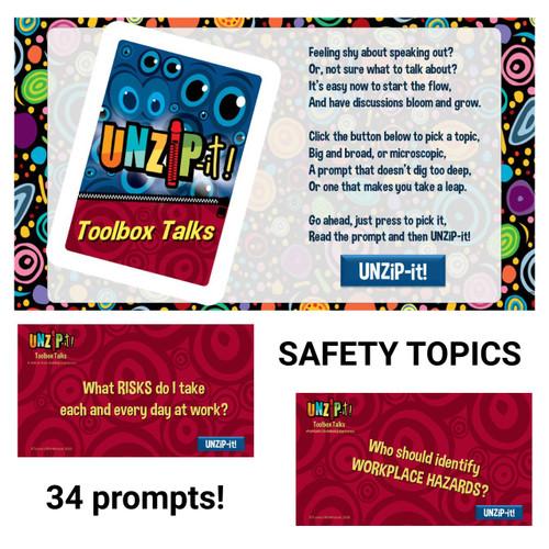 UNZiP-it! Remote w/ Toolbox Talks Prompts