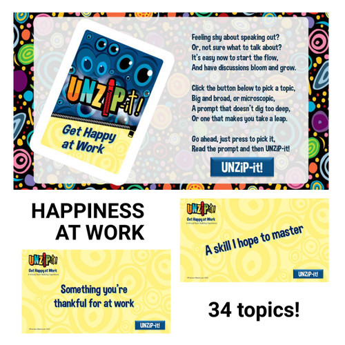 UNZiP-it! Remote w/ Get Happy at Work Prompts