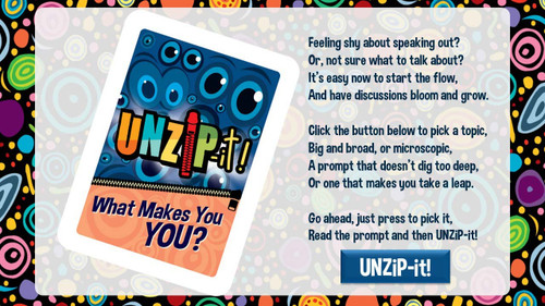 UNZiP-it! Remote w/ What Makes you YOU Prompts