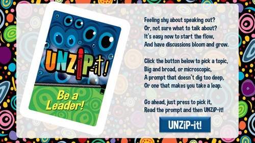 UNZiP-it! Remote w/ Be A Leader Prompts