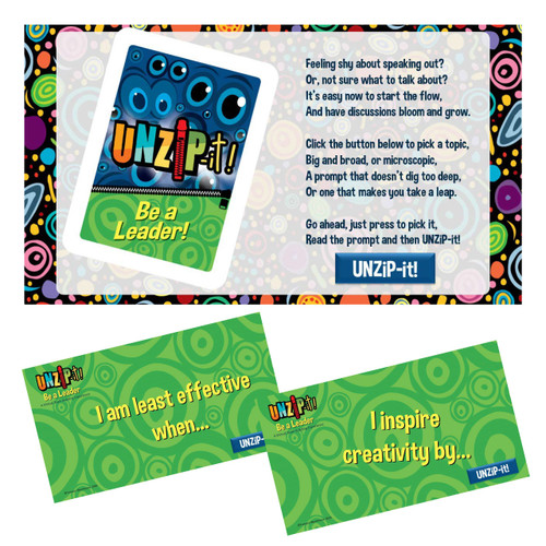UNZiP-it! Remote w/ Be A Leader Prompts