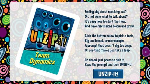 UNZiP-it! Remote w/ Team Dynamics Prompts