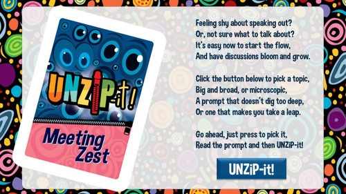 UNZiP-it! Remote w/ Meeting Zest Prompts