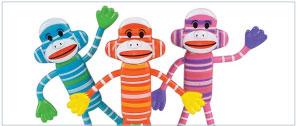 Sock Monkey Low-Cost Bendable Fidget Toys
