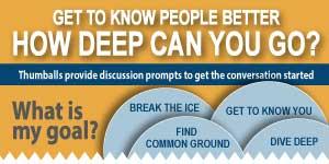 Thumball conversation starter infographic