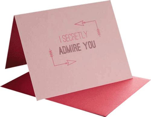 Pink Paper Hand Pressed Greeting Card