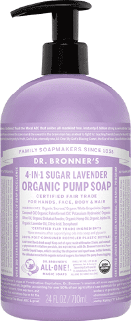 4-in-1 Sugar Lavender Organic Pump Soap (24 oz.)
