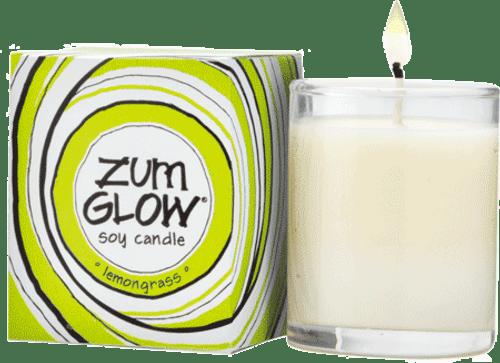 Indigo Wild Lemongrass Zum Glow Glass Votive