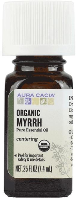 Aura Cacia Organic Myrrh Essential Oil .25 Fl. Oz.