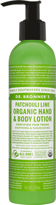 Dr. Bronner's Patchouli And Lime Body Lotion