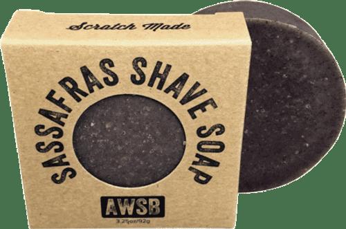 A Wild Soap Bar Sassafras Shaving Soap