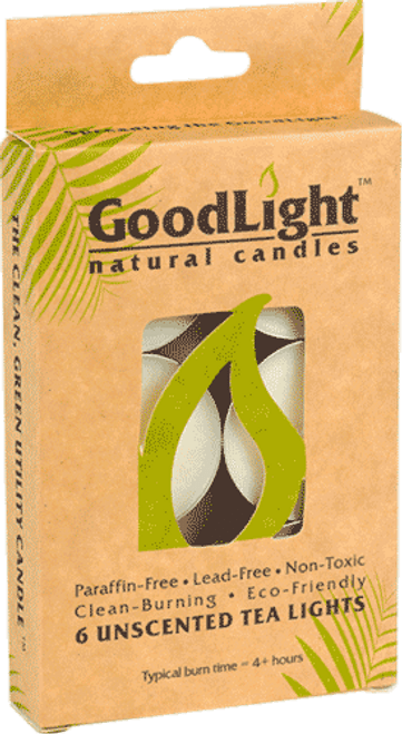 GoodLight Candle Tea Lights (Unscented) - 6 Pack